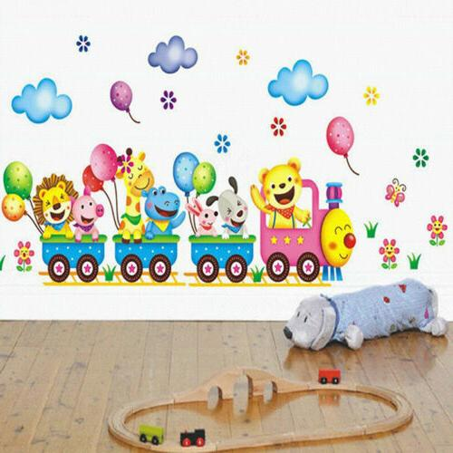 Animals Train Wall Sticker for Kids Baby Room
