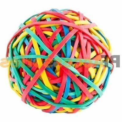 assorted rubber band ball