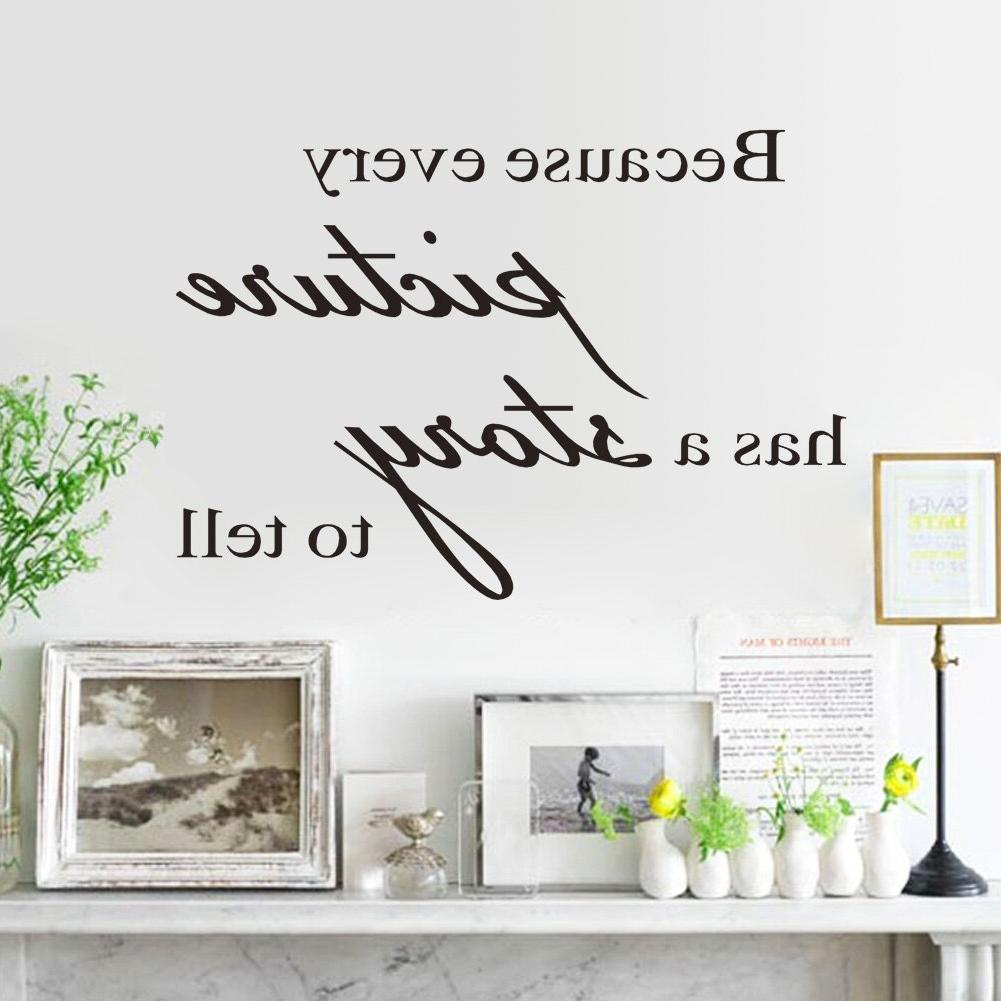 Because Every has a story to vinyl wall <font><b>decor</b></font> wall <font><b>decorative</b></font> room