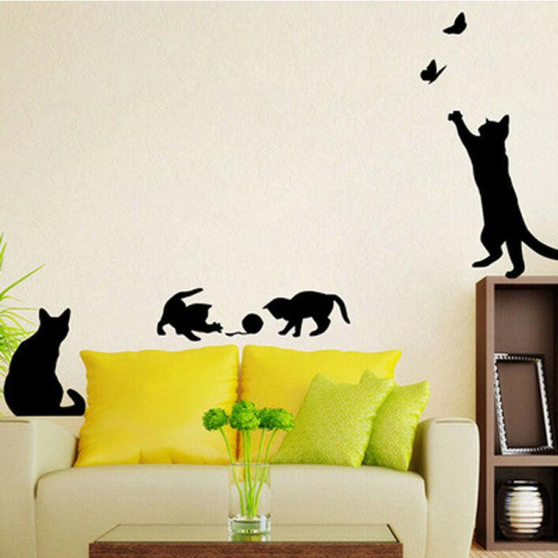 Black Removable Wall Stickers Decal Home DIY