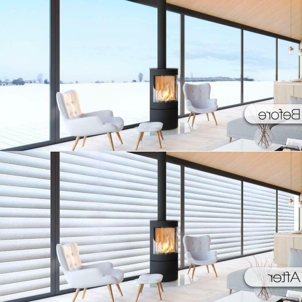 Rabbitgoo Blinds Window Film Pattern Cling Frosted Home