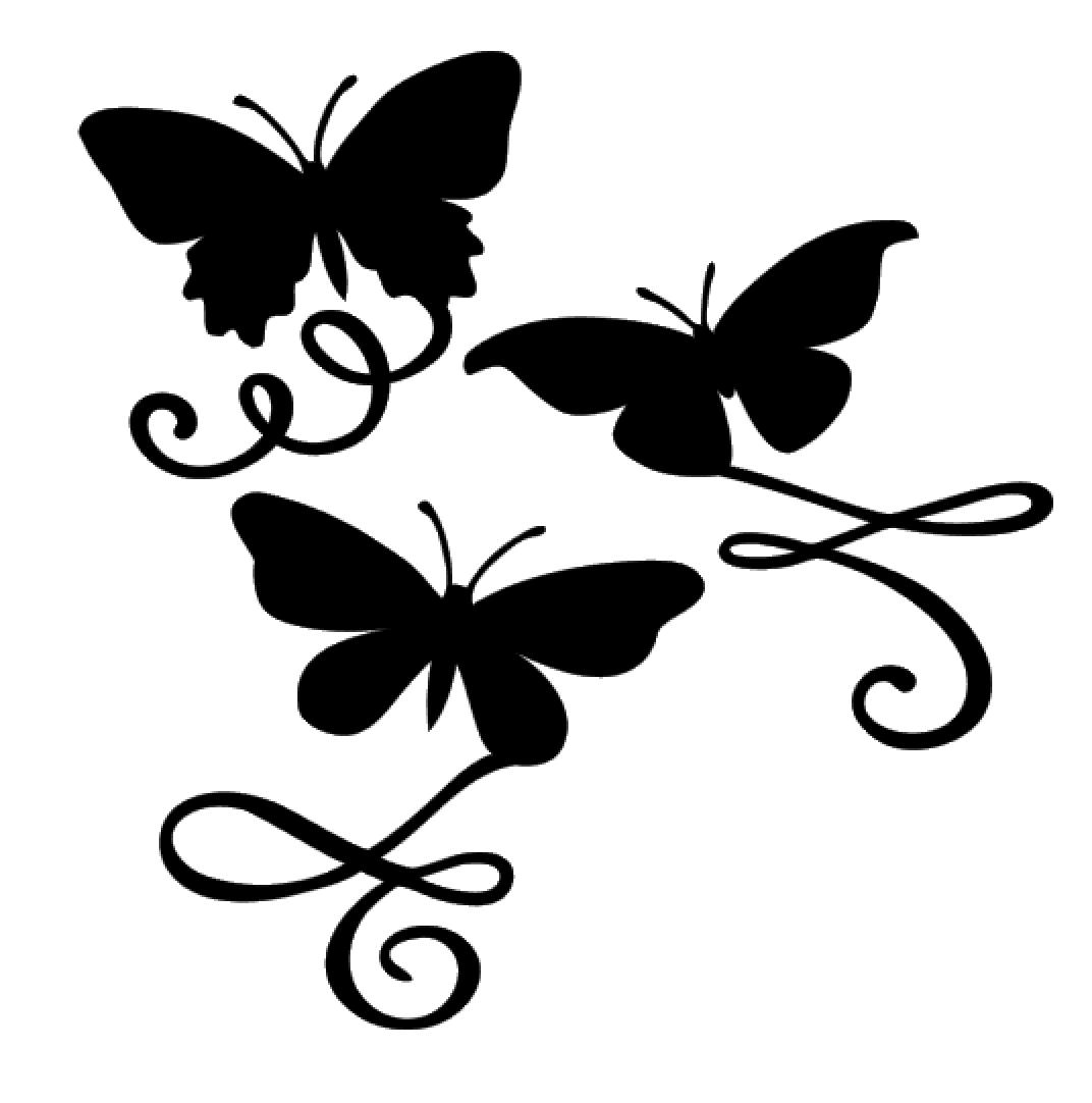 Butterfly Flourishes Vinyl Decal Sticker For Home Cup Mug Gl
