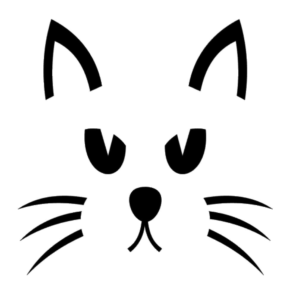 Cat Face Vinyl Decal Sticker For Home Cup Mug Glass Car Wall