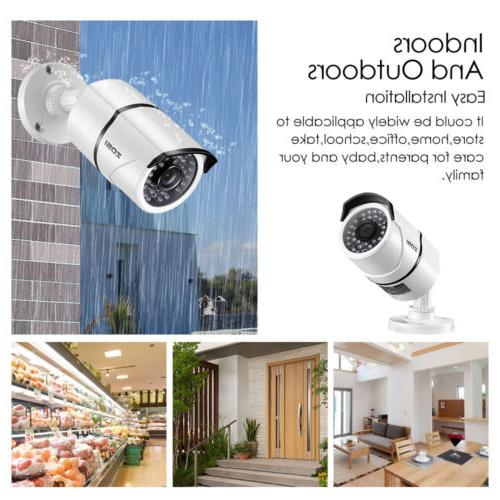ZOSI 4in1 Home Surveillance Security 1080p HD Outdoor