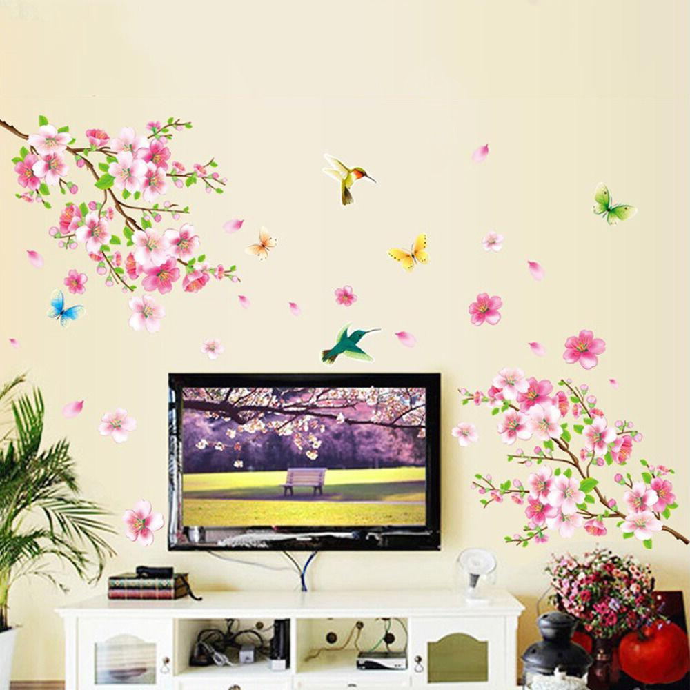 Cherry Wall Pink Tree Decal For Home Nursery Decor US