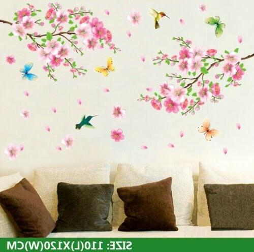 cherry blossom wall decal pink flower tree