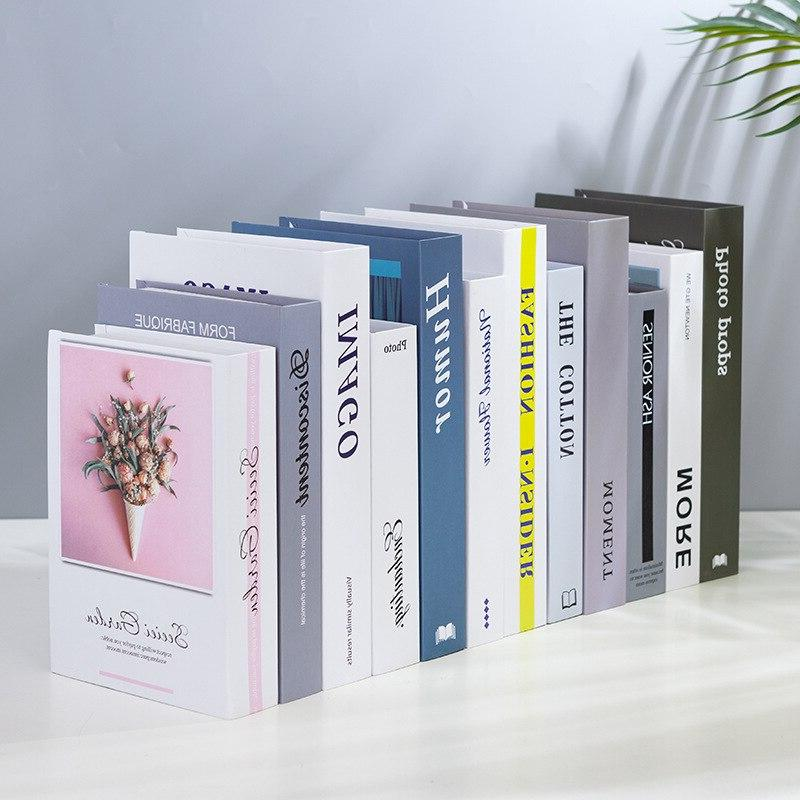 Creative Simulation Books <font><b>Decoration</b></font> False Book Exquisite Figurines Prop Livingroom Wine Cabinet Bookshelf Craft