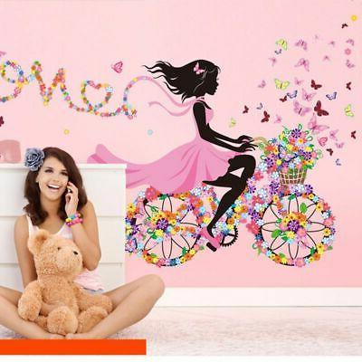 Cute DIY Lovely Girl Art Wall Stickers For Kid Rooms PVC Wal