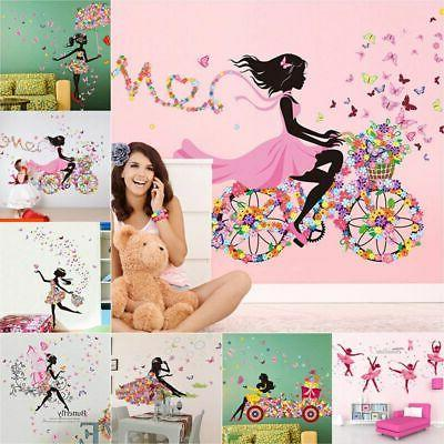 Cute Art Wall Stickers For Kids Rooms PVC Decals Home