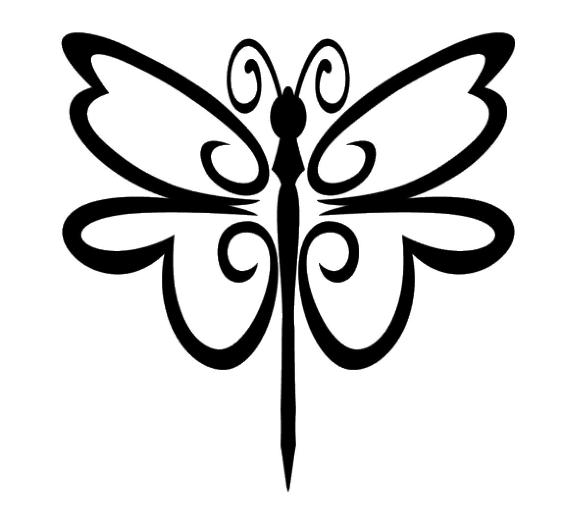dragonfly vinyl decal sticker for home cup