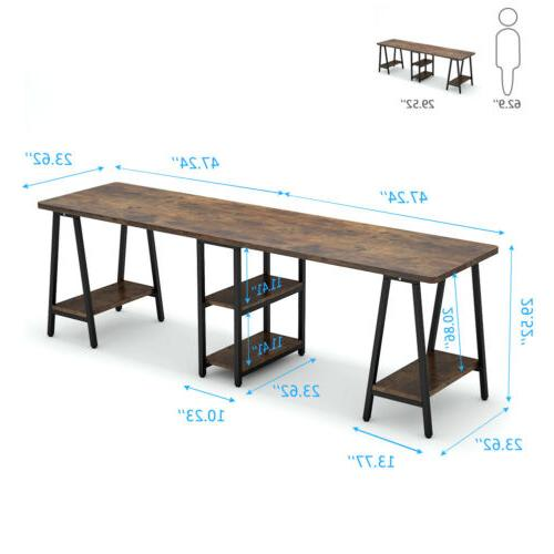 Excellent Double Desk Writing Table
