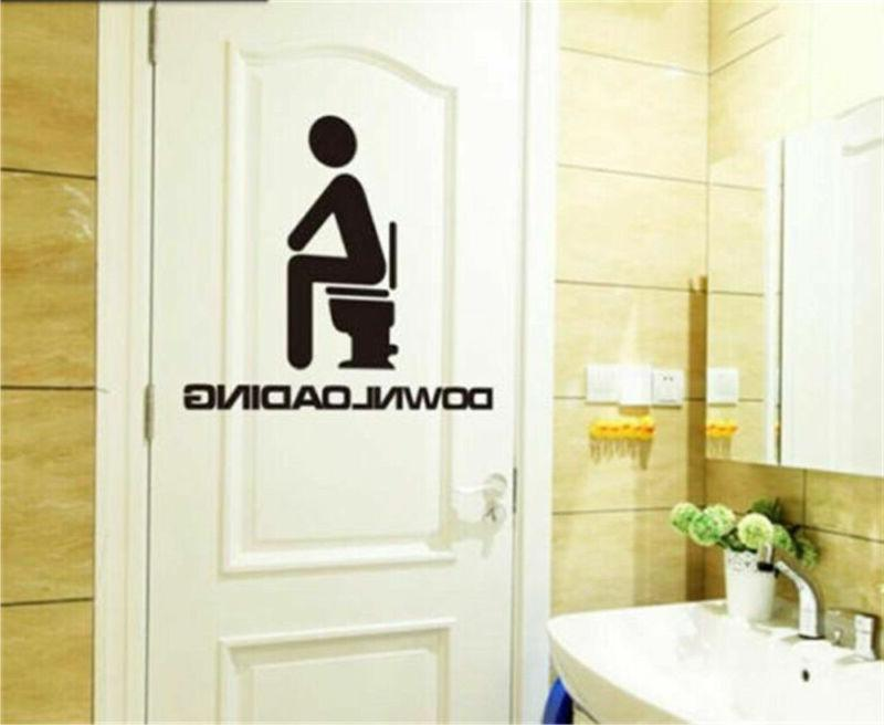 Funny Lovely Bathroom Stickers Vinyl Wall Decal