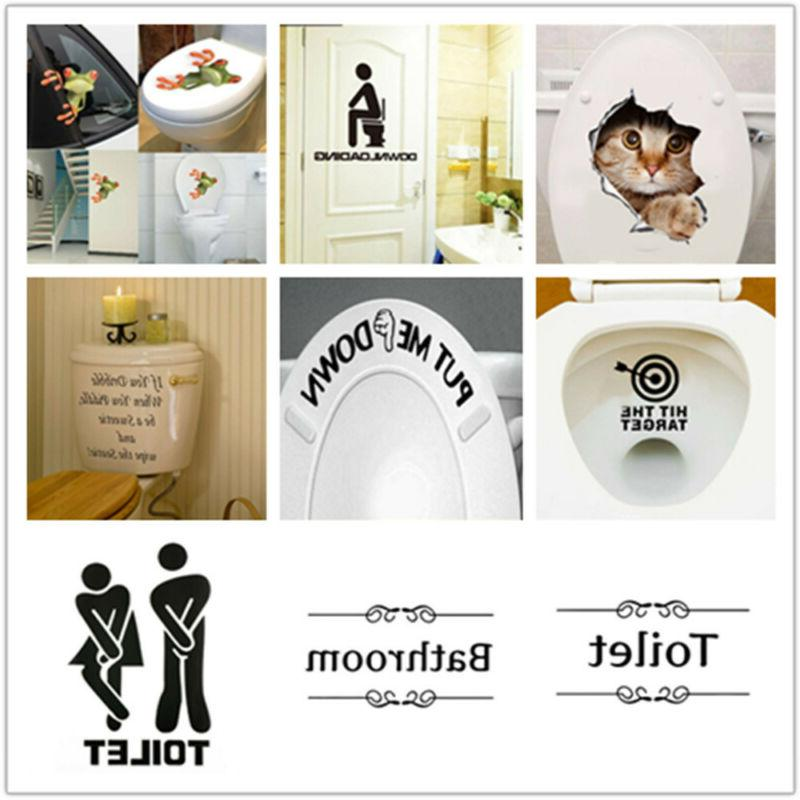 funny lovely bathroom toilet stickers removable vinyl
