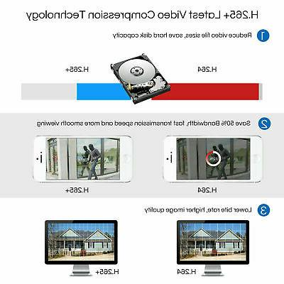 ZOSI HD 8CH 5MP IR Outdoor CCTV Home Security Camera System
