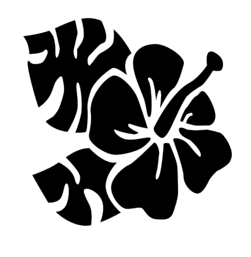 Hibiscus Flower Vinyl Decal Sticker For Home Cup Mug Glass C