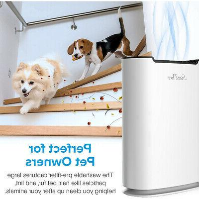 Large Room Air Purifiers HEPA Home Indoor Cleaner for Allergies