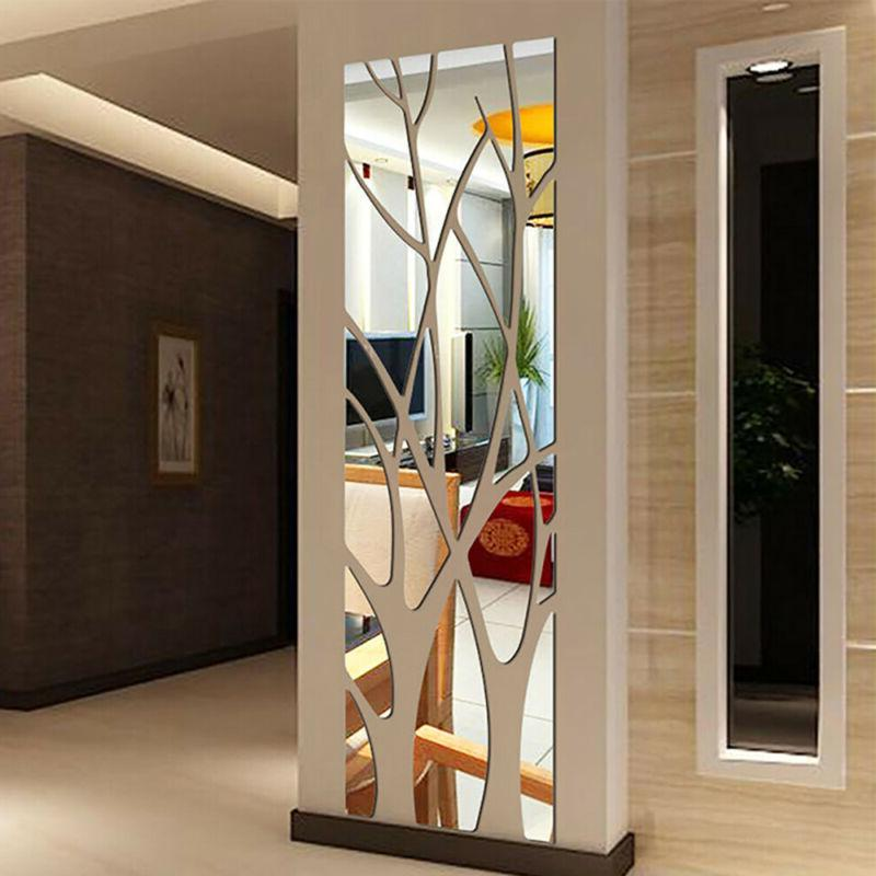 home mirror tile wall sticker removable