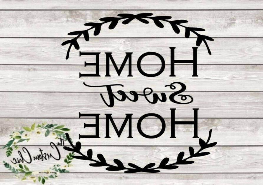 home sweet home vinyl decal for crafting