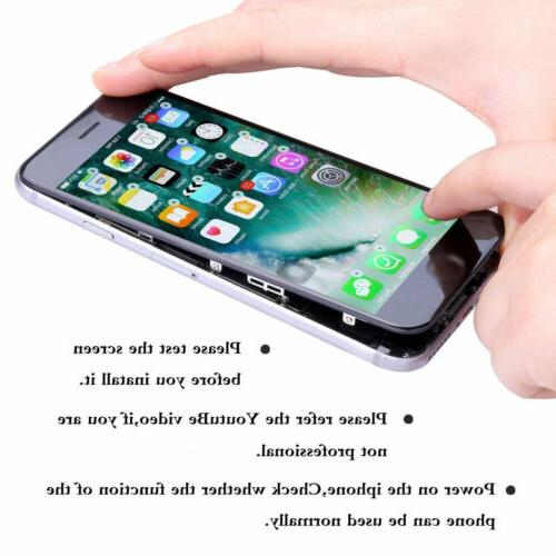 For 6 Plus Touch Full Replacement Home Button&Camera
