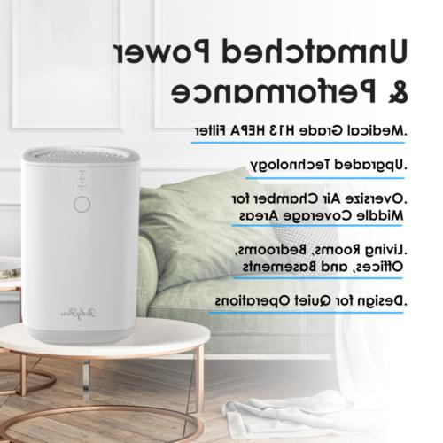 Air Purifier Large Room Up to 738 ft² True HEPA Filter Air