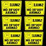 LOT 6 SMILE YOURE ON CAMERA WINDOW WARNING STICKER SIGNS FOR