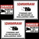 LOT HOME SECURITY VIDEO CAMERA WARNING SIGNS+STICKERS FOR WI