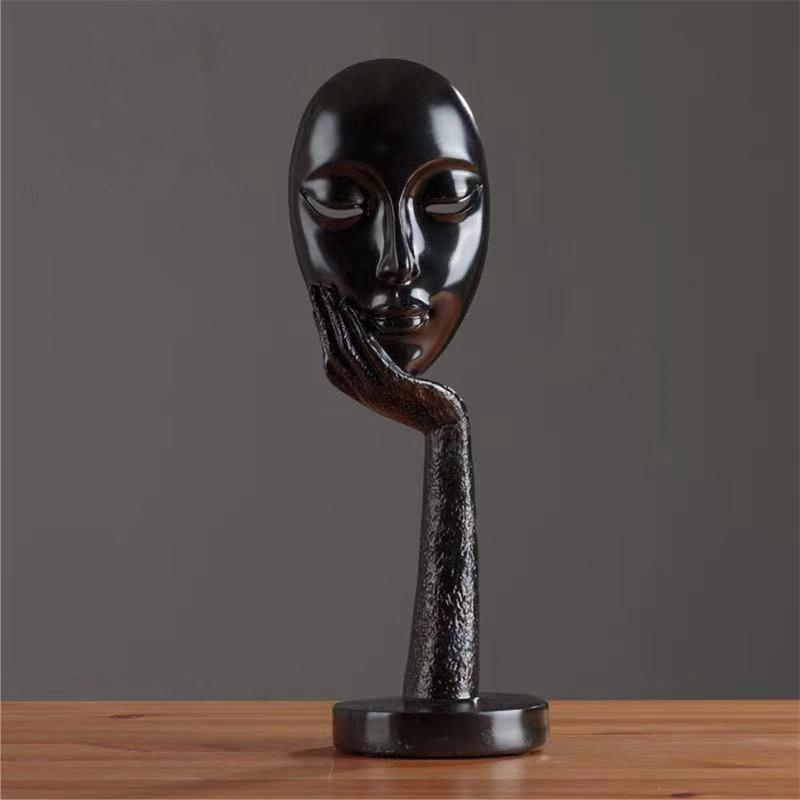 LUDA Modern Human Abstract Lady Resin Statues Sculpture Art Crafts Display