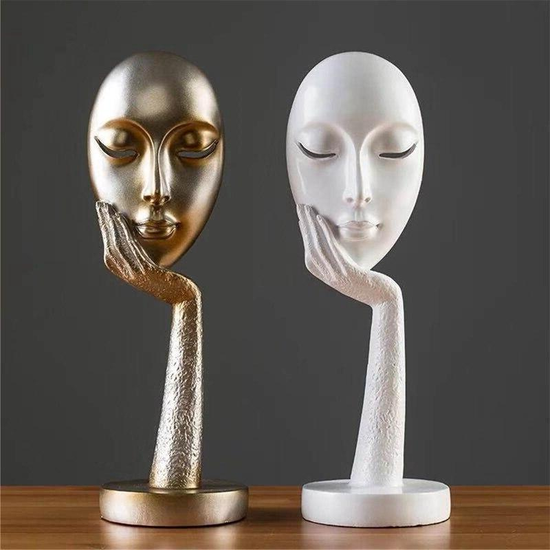 LUDA Human Abstract Lady Resin Sculpture Crafts Figurine <font><b>Home</b></font> Display
