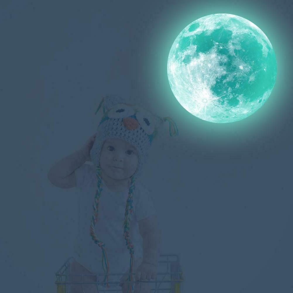 Luminous Moon Earth Stickers Kids Bedroom DIY 3D Home Decor