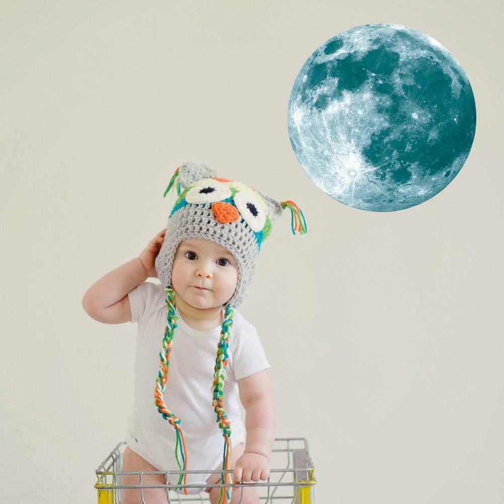 Luminous Moon Earth Stickers for Kids Bedroom Decor