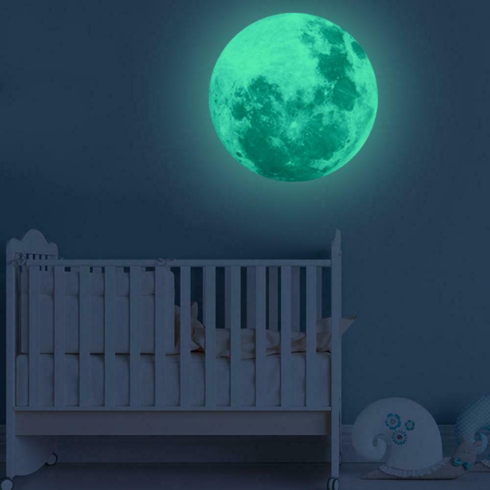 luminous moon earth wall stickers for kids