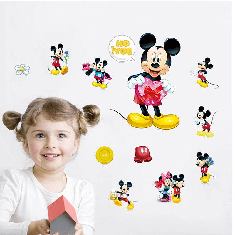 Mickey Mouse Minnie Wall Decals Kids Room Decor
