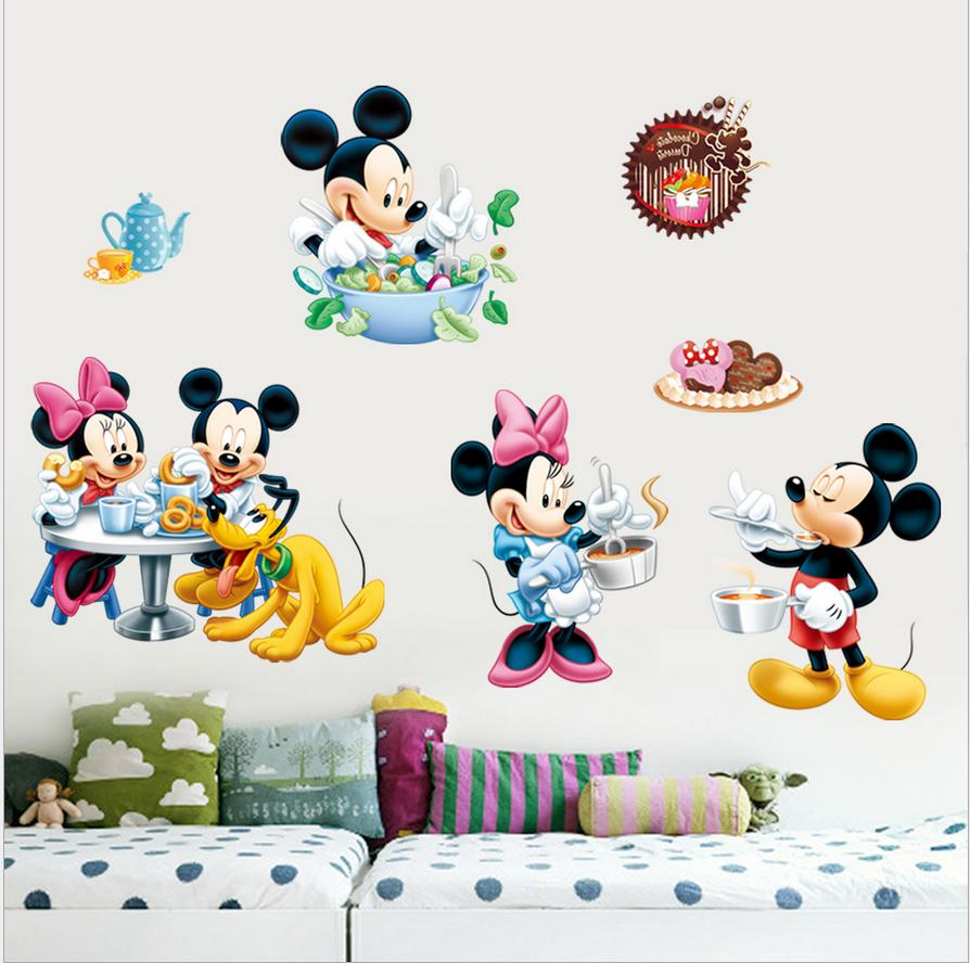 Mickey Mouse Minnie Vinyl Wall Decals Sticker for Kids Nurse