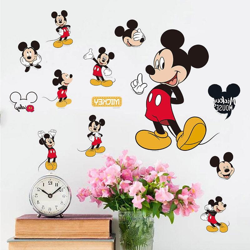 mickey mouse minnie vinyl wall decals sticker