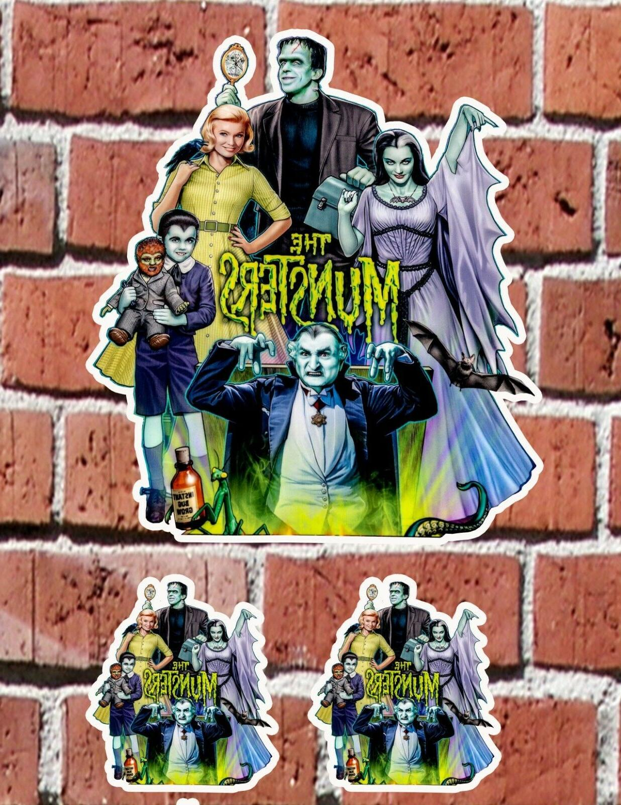munsters 7 and 3 decal stickers