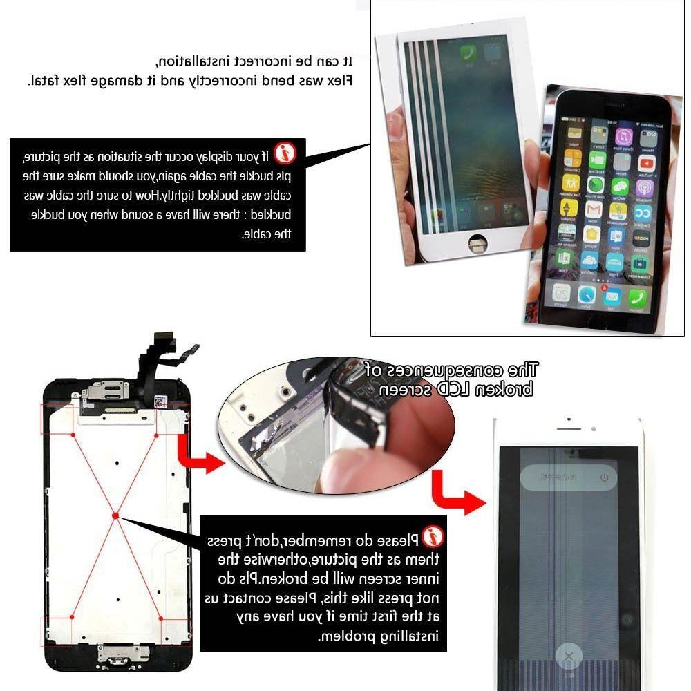 OEM 6 Plus Complete Screen Replacement Button
