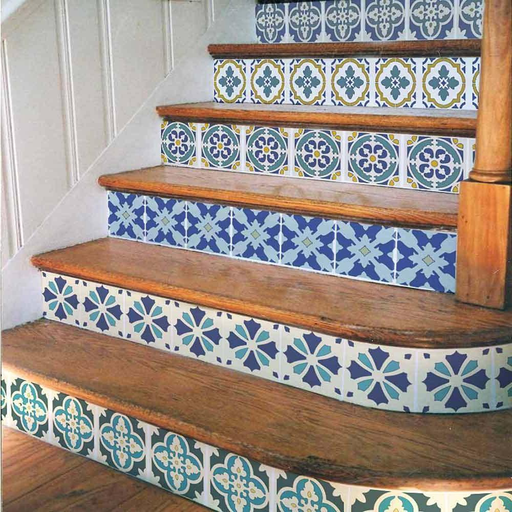 Portuguese Tile Stencil Set - Size MEDIUM -  Stencils for DI