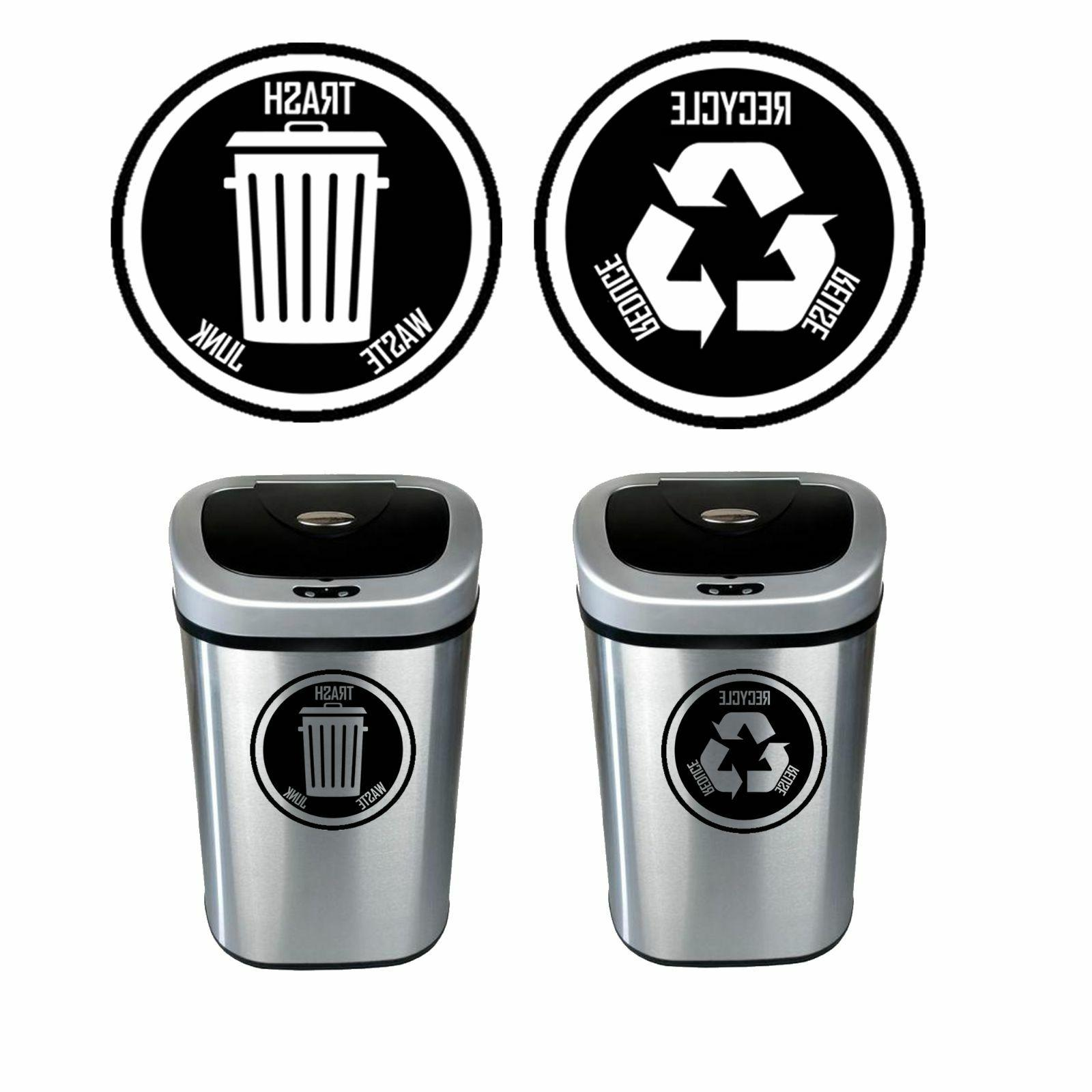 recycle and trash decal sticker for trash
