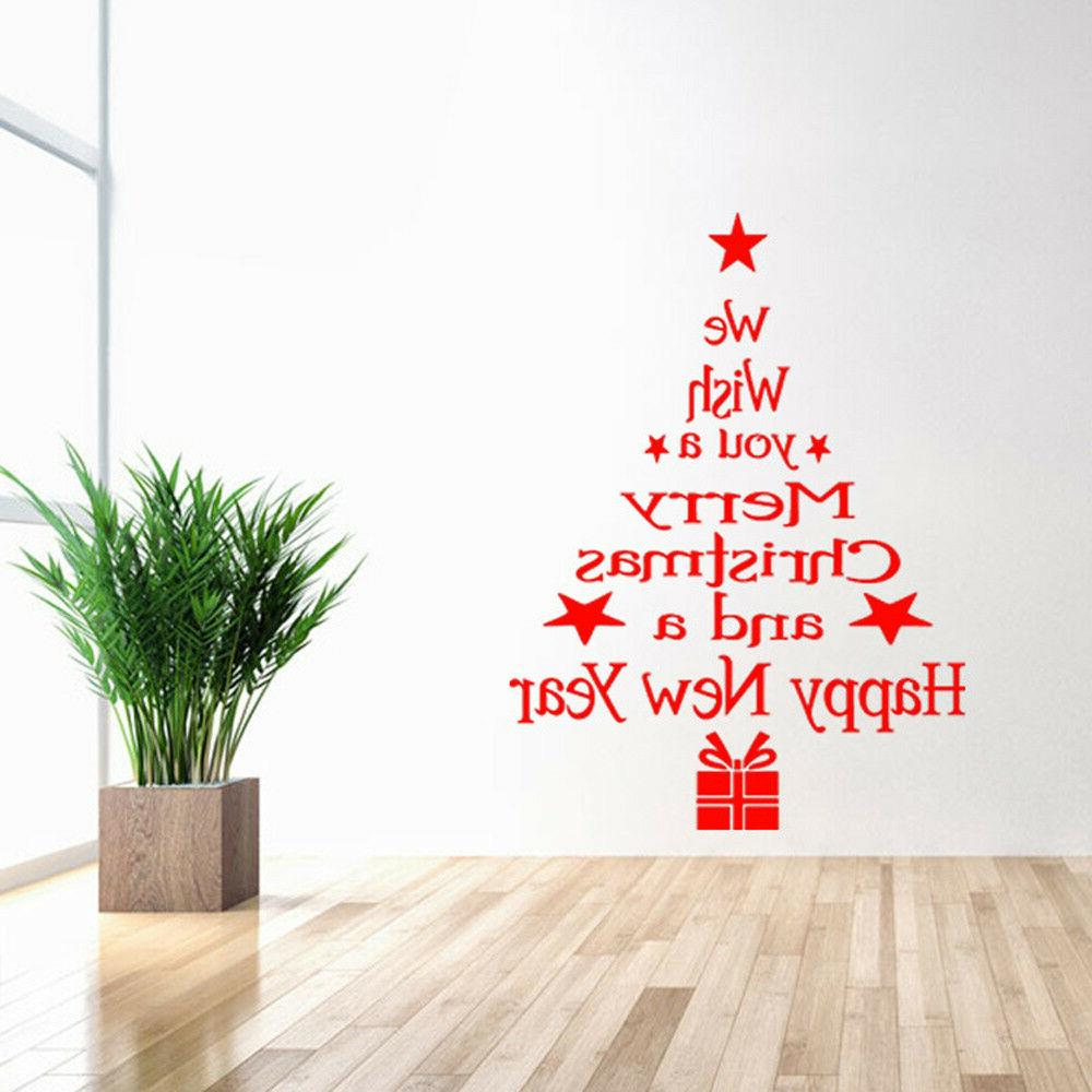 removable 3d wall sticker christmas tree window