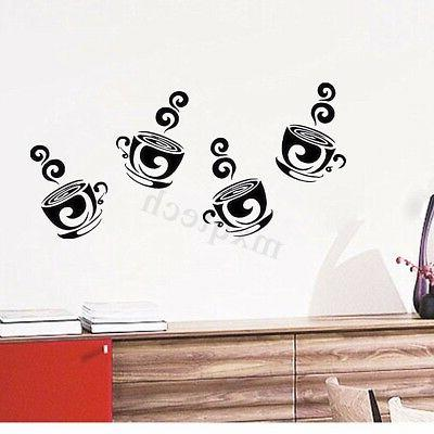 Removable Coffee Wall Decal Decor