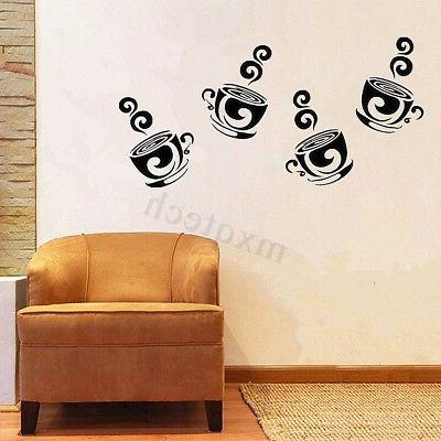 Removable Coffee Tea Wall Stickers For Home Cafe Decor