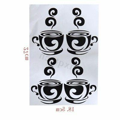 Removable Tea Wall Stickers Art Decal For Home Cafe Decor