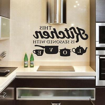 removable kitchen wall sticker vinyl decal