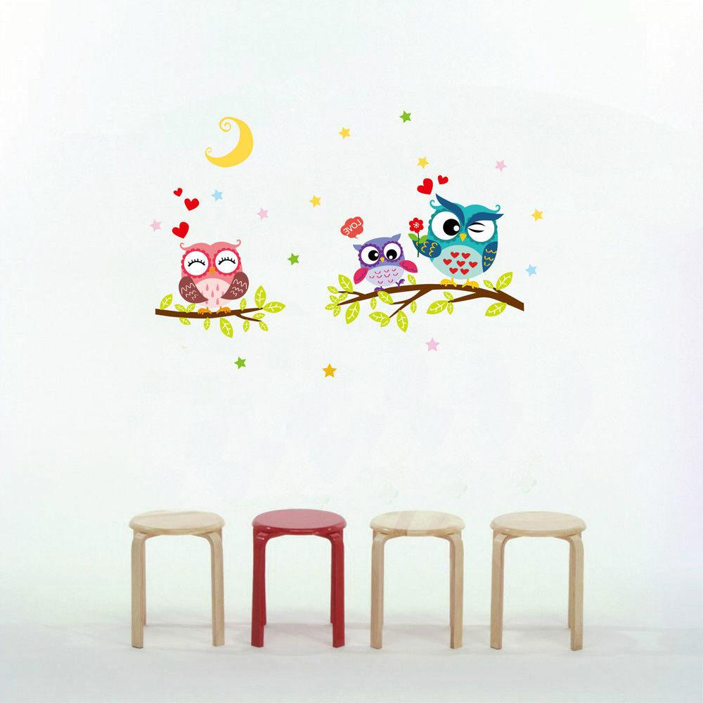 Removable Owl Kids Rooms Decor