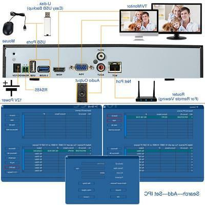 ZOSI 8CH 720p AHD-TVI Security Camera System 1080N DVR Reord