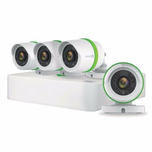 720p Video Security Surveillance System 4 Cameras 8 Channel