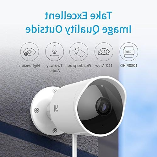 YI Outdoor Security Camera, 1080p Cloud Cam 2 4G