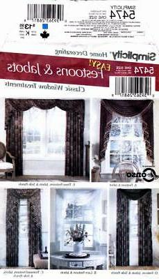 Simplicity Sewing Pattern 5474 Easy Classic Curtains Festoon