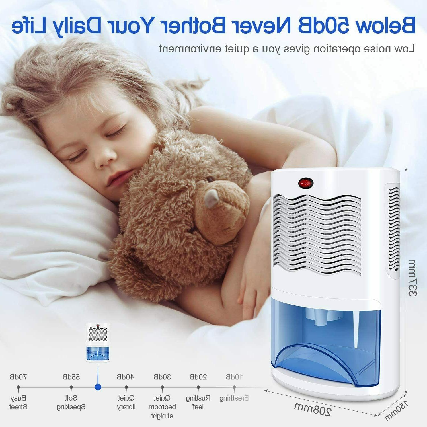 Small Dehumidifier with 2000ml Removes