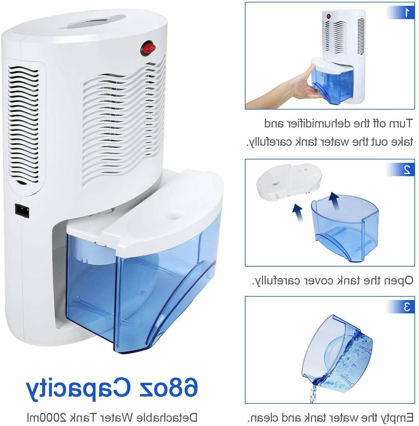 Small Dehumidifier for with 2000ml Removes Moisture